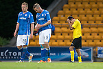 St Johnstone v Alashkert FC...09.07.15   UEFA Europa League Qualifier 2nd Leg<br /> Karen Muradyan is shown a second yellow card by ref Fredy Fautrel ans is sent off<br /> Picture by Graeme Hart.<br /> Copyright Perthshire Picture Agency<br /> Tel: 01738 623350  Mobile: 07990 594431