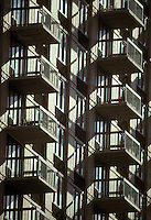 Multi multiple balconies shadows