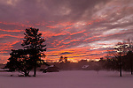 Middletown, New York - Winter sunset with fog on Feb. 21, 2014.