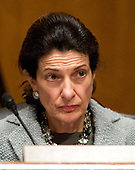 United States Senator Olympia Snowe (Republican of Maine), a member of the U.S. Senate Finance Committee listens to the testimony U.S. Secretary of Health and Human Services (HHS) Kathleen Sebelius during a hearing on the agency's FY 2013 budget proposal on Capitol Hill in Washington, D.C. on Wednesday, February 15, 2012..Credit: Ron Sachs / CNP