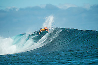 Namotu Island, Fiji (Monday, June 1, 2015) Carissa Moore (HAW) - The Fiji Women&rsquo;s Pro, Stop No. 5 on the 2015 World Championship Tour, has called on this morning with a building swell.<br /> The event was put on hold till 9.30 am to take advantage of the dropping tide and once the water was coming off the reef it got underway.<br /> <br /> The surf was in the 4' range early with light winds and built to around 6' as the tide started pushing around midday. Round 1 was completed today.  Photo: joliphotos.com