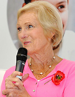 OCT 25 Mary Berry at the BBC Good Food Bakes & Cakes Show