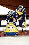 19 November 2005: Ivo Danilevic pilots the Czech Republic 1 sled to a 19th place finish at the 2005 FIBT AIT World Cup Men's 2-Man Bobsleigh Tour at the Verizon Sports Complex, in Lake Placid, NY. Mandatory Photo Credit: Ed Wolfstein.