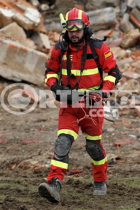 "Exercise ""GAMMA PALAZUELOS 2013"" of theMIlitary Unit of Emergency (UME).March 11 ,2013. (ALTERPHOTOS/Acero) /NortePhoto"