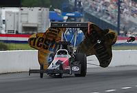 May 13, 2011; Commerce, GA, USA: NHRA top fuel dragster driver Ike Maier during qualifying for the Southern Nationals at Atlanta Dragway. Mandatory Credit: Mark J. Rebilas-