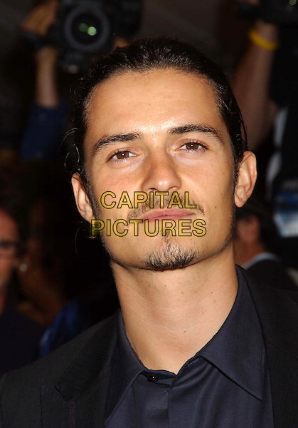 """ORLANDO BLOOM.The premiere of """"Elizabethtown"""" at the Roy Thompson Hall, part of the 2005 Toronto Film Festival, Toronto, Canada..September 10th, 2005.Photo Credit: Laura Farr/Admedia.headshot portrait mustache facial hair goatee.www.capitalpictures.com.sales@capitalpictures.com.© Capital Pictures."""