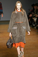 Kirsi Pyrhonen walks runway in an outfit from the Marc by Marc Jacobs Fall/Winter 2011 collection, during New York Fashion Week, Fall 2011.