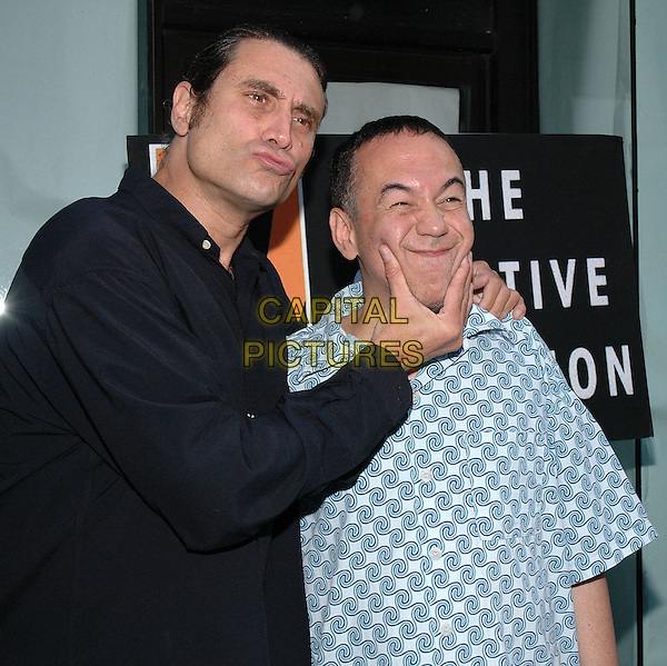 """26 July 2005 - New York, New York -  Paul Provenza and Gilbert Gottfried arrive at the premiere of their new film, """"The Aristocrats"""", at The Directors Guild Theater in Manhattan.  .Photo Credit: Patti Ouderkirk/AdMedia"""