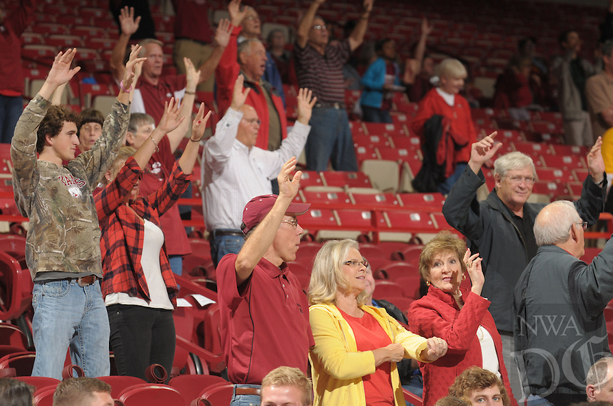 NWA Democrat-Gazette/ANDY SHUPE<br /> of Arkansas of Southwestern Oklahoma State Thursday, Nov. 5, 2015, during the first half in Bud Walton Arena. Visit nwadg.com/photos to see more photographs from the game.