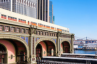 US, New York City. Battery Maritime Building ferry terminal.