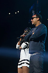 French Montana and Remy Ma Perform onstage during Power 105.1's Powerhouse 2014 at Barclays Center, Brooklyn, NY