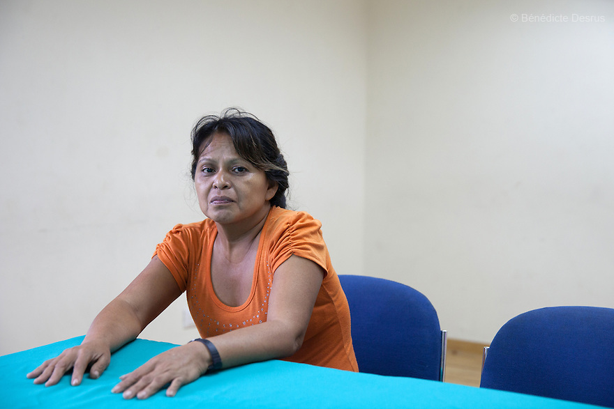 Portrait of Mirna Isabel Ramírez in San Salvador, El Salvador on June 9, 2015. Ramírez was arrested for attempted murder and sentenced to 12-and-a-half years in jail after giving birth prematurely in a latrine. Abortion in El Salvador is illegal. The law formerly permitted an abortion to be performed under some limited circumstances, but, in 1998, all exceptions were removed when a new abortion law went into effect. Photo by Bénédicte Desrus