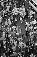 26 Aug 1970 --- Feminists march in New York City on August 26, 1970 on the 50th anniversary of the passing of the Nineteenth Amendment which granted American women full suffrage. The National Organization for Women (NOW) called upon women nationwide to strike for equality on that day. --- Image by © JP Laffont/Sygma/CORBIS