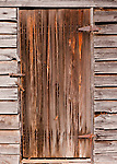 Door of an old shed, at the Homeplace Vineyard in Chatham Virginia.