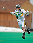 1 April 2008: University of Vermont Catamounts' Max Gradinger, a Freshman from Rancho Santa Fe, CA, in action against the Fairfield University Stags at Moulton Winder Field, in Burlington, Vermont. The Catamounts rallied to overcome a five goal deficit and defeat the visiting Stags 9-8 notching their third win of the season...Mandatory Photo Credit: Ed Wolfstein Photo