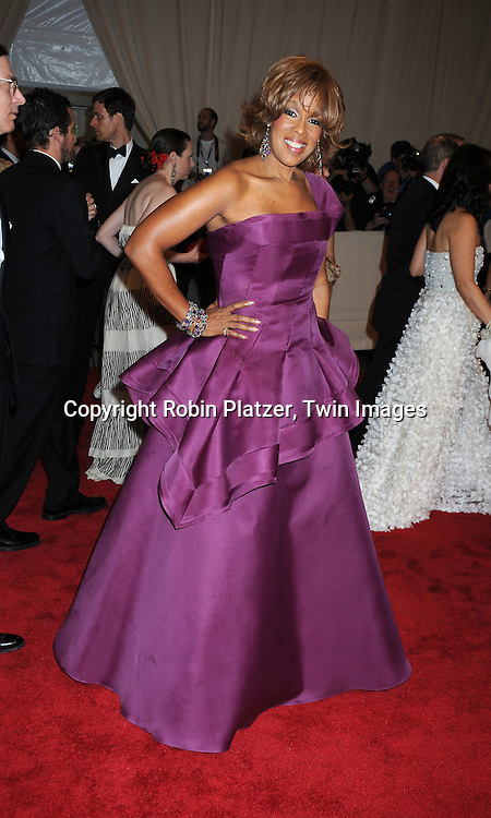 Gayle King arriving at The Costume Institute Gala Benefit celebrating American Woman: Fashioning a National Identity at The Metropolitan Museum of Art on May 3, 2010 in New York City.