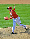 17 June 2012: Washington Nationals pitcher Sean Burnett on the mound against the New York Yankees at Nationals Park in Washington, DC. The Yankees defeated the Nationals 4-1 to sweep their 3-game series. Mandatory Credit: Ed Wolfstein Photo