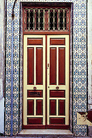 Ceramics, Tunis, Tunisia.  Tiles Outline Entrance to Private Home, Rue du Pacha, Tunis Medina.