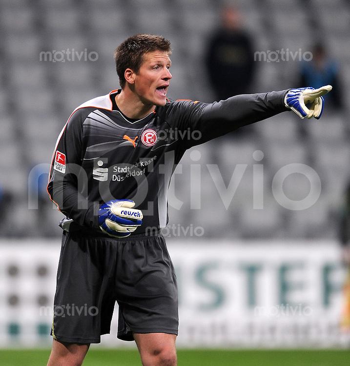2. Fussball Bundesliga:  Saison   2010/2011  ,21.  Spieltag  1860 Muenchen - Fortuna Duesseldorf   07.02.2011 Michael Melka (Duesseldorf)