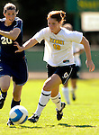 2 September 2007: University of Vermont Catamounts' Emilie Rowe, a Junior from Rochester, NY, in action against the George Washington University Colonials at Historic Centennial Field in Burlington, Vermont. The Colonials rallied to defeat the Catamounts 2-1 in overtime during the TD Banknorth Soccer Classic...Mandatory Photo Credit: Ed Wolfstein Photo