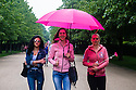 """Young women in Regent's Park, after the annual """"Race for Life""""."""