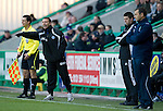 Hibs v St Johnstone....27.11.10  .Derek McInnes shouts instructions.Picture by Graeme Hart..Copyright Perthshire Picture Agency.Tel: 01738 623350  Mobile: 07990 594431