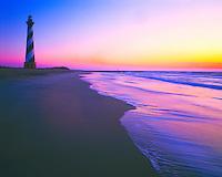 Cape Hatteras Lighthouse, Cape Hatteras National Seashore, North Carolina  Atlantic Ocean