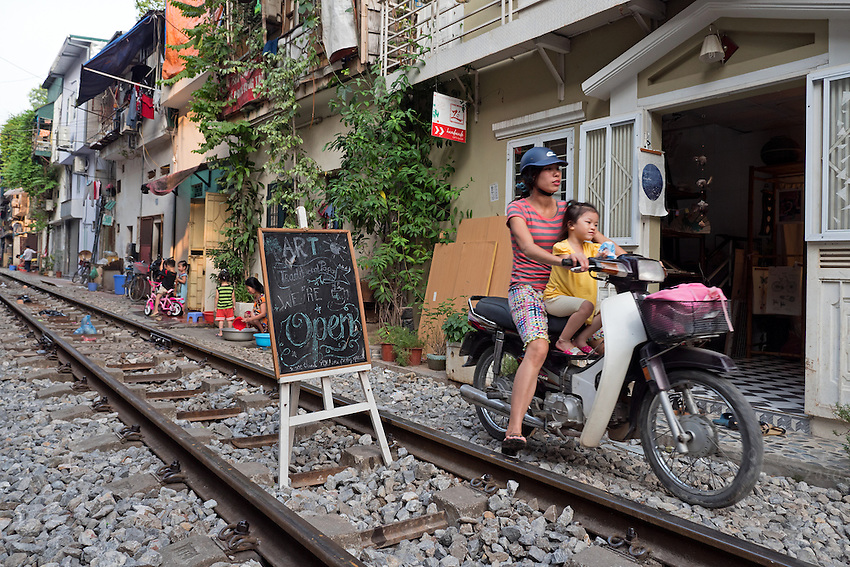People living along the famed Hanoi Railway line.<br /> Hanoi, the capital of Vietnam, is known for its centuries-old architecture and a rich culture with Southeast Asian, Chinese and French influences. At its heart is the chaotic Old Quarter, where the narrow streets are roughly arranged by trade. There are many little temples, including Bach Ma, honoring a legendary horse, plus Đồng Xu&acirc;n Market, selling household goods and street food.
