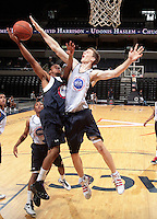 Cody Zeller at the NBPA Top100 camp June 17, 2010 at the John Paul Jones Arena in Charlottesville, VA. Visit www.nbpatop100.blogspot.com for more photos. (Photo © Andrew Shurtleff)
