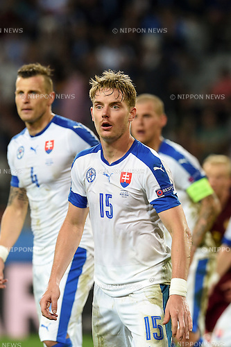 Tomas Hubocan (Slovakia) ; <br /> June 15, 2016 - Football : Uefa Euro France 2016, Group B, Russia 1-2 Slovakia at Stade Pierre Mauroy, Lille Metropole, France. (Photo by aicfoto/AFLO)