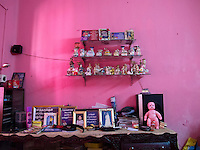 The family collectibles in the Pink House.