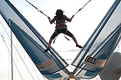 A young girl enjoys a ride at the N.C. State Fair on Sunday October 14th, 2012.