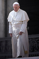 Pope Francis during his weekly general audience in St. Peter square at the Vatican, Wednesday.30 October  2013