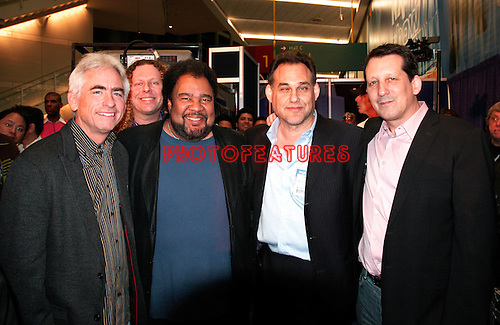 David Benoit, George Duke, Joseph Brandstetter from Rhodes and Jeff Lorber play new Rhodes keyboards at NAMM Show tribute to Harold Rhodes January 18th 2007<br />