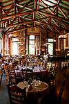 Dining Room, interior, Ahwahnee Hotel,Yosemite Valley, Yosemite National Park, California, USA.  Photo copyright Lee Foster.  Photo # california120785