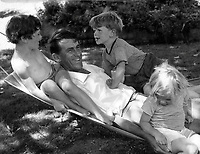 Sir Edmund Hillary with kids