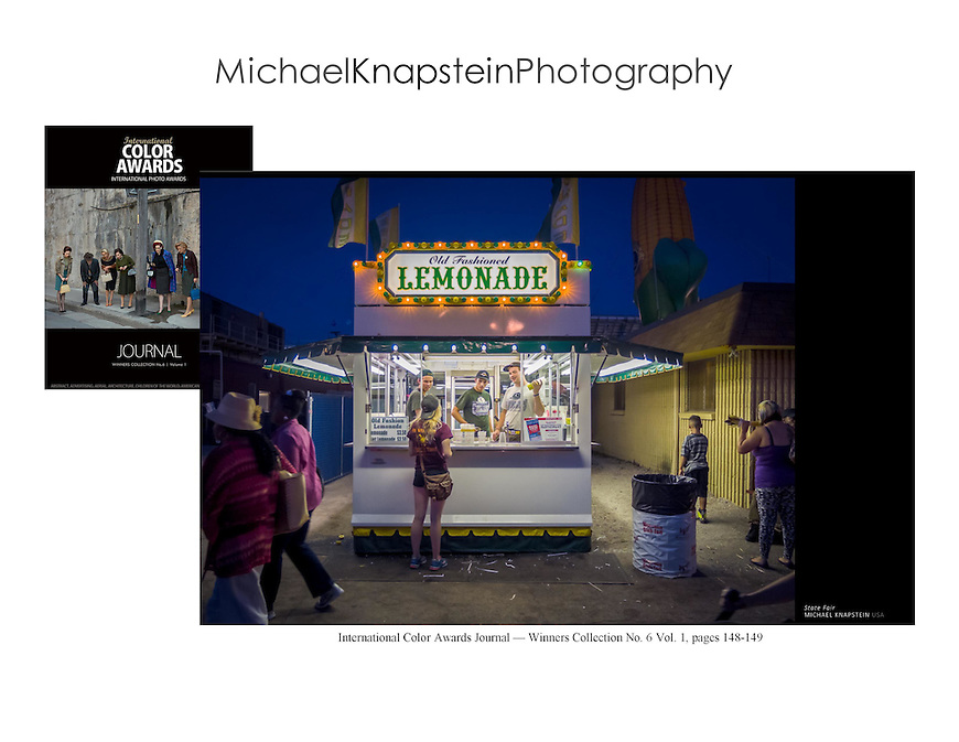 "The international award-winning photograph ""State Fair"" by Michael Knapstein was selected for publication as a double-page spread in ""The Color Journal"" No. 6."