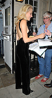 Victoria Louise &quot;Pixie&quot; Lott departs from the stage door after the &quot;Breakfast at Tiffany's&quot; evening performance, Theatre Royal Haymarket, Suffolk Street, London, England, UK, on Monday 25 July 2016.<br /> CAP/CAN<br /> &copy;CAN/Capital Pictures /MediaPunch ***NORTH AND SOUTH AMERICAS ONLY***