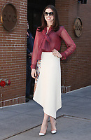 NEW YORK, NY - APRIL 18: Anne Hathaway seen after an appearance on The View in New York City on April 18, 2017. <br /> CAP/MPI/RW<br /> &copy;RW/MPI/Capital Pictures
