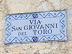 Street Sign in Ravello, Amalfi Coast, Campania, Italy, Europe, World Heritage Site