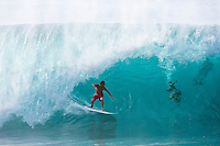 Former world surfing champion ANDY IRONS (HAW)  surfing at the Banzai Pipeline, North Shore of Oahu, Hawaii. Photo: joliphotos.com