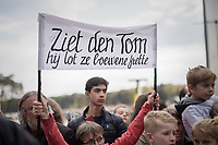 Tom Boonen greeted in his own local dialect at the Tom Boonen farewell race/criterium 'Tom Says Thanks!' in Mol/Belgium