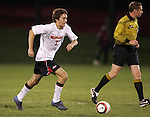 1 November 2006: Maryland's Drew Yates (3). Maryland defeated Boston College 1-0 in double overtime at the Maryland Soccerplex in Germantown, Maryland in an Atlantic Coast Conference college soccer tournament quarterfinal game.
