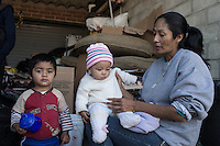 A family in Tijuana tried to cross the border with no success and now lives in the street. Tijuana, Mexico. Jan 05, 2015.