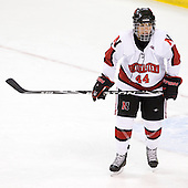 Stephanie Gavronsky (NU - 44) - The Harvard University Crimson defeated the Northeastern University Huskies 4-3 (SO) in the opening round of the Beanpot on Tuesday, February 8, 2011, at Conte Forum in Chestnut Hill, Massachusetts.