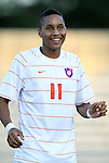 14 September 2012: Clemson's Amadou Dia. The Duke University Blue Devils defeated the Clemson University Tigers 2-0 at Koskinen Stadium in Durham, North Carolina in a 2012 NCAA Division I Men's Soccer game.