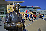 29 September 2012: A bronze statue of the former Minnesota Twins Owner Calvin Griffith stands outside Gate 29 at Target Field. Photographed prior to a game against the Detroit Tigers at Target Field in Minneapolis, MN. The Tigers defeated the Twins 6-4 in the second game of their 3-game series. Mandatory Credit: Ed Wolfstein Photo