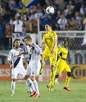 CARSON, CA - July 4, 2013: LA Galaxy vs Columbus Crew match at the StubHub Center in Carson, California. Final score, LA Galaxy 2, Columbus Crew 1.