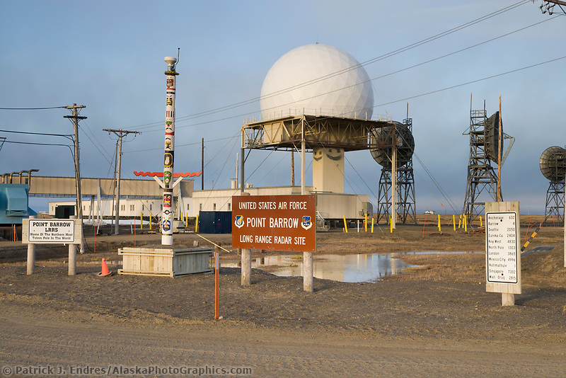 United States Air Force Long Range Radar Site, Point Utqiagvik (Barrow), Alaska.