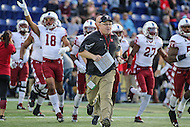 Annapolis, MD - December 27, 2016: Temple Owls interm head coach Ed Foley before game between Temple and Wake Forest at  Navy-Marine Corps Memorial Stadium in Annapolis, MD.   (Photo by Elliott Brown/Media Images International)